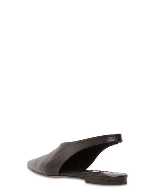 Jil Sander レザースリングバックフラットサンダル 10mm Black