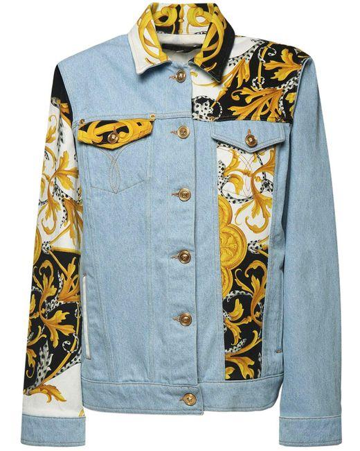 Versace コットンデニムジャケット Blue