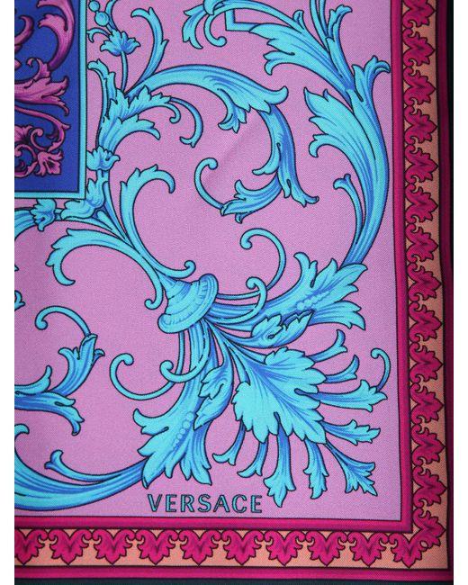 Шёлковый Платок С Принтом Versace для него, цвет: Blue
