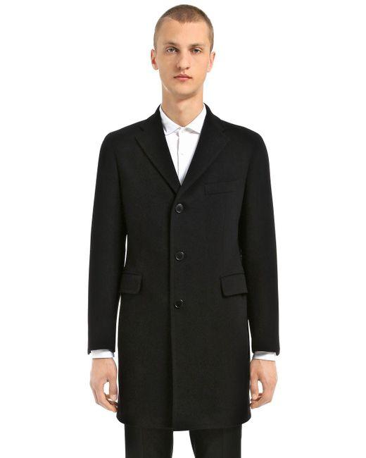 Tagliatore | Black Wool & Cashmere Coat for Men | Lyst