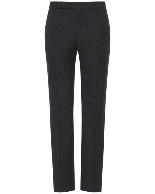 メンズ Saint Laurent モヘア&ウールパンツ Black