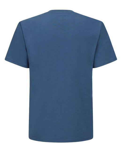 メンズ Moschino プリントコットンtシャツ Blue