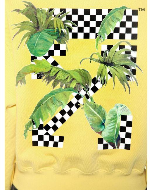 Off-White c/o Virgil Abloh コットンジャージースウェットシャツ Yellow