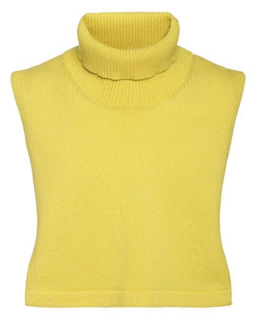 Высокий Воротник Из Шерсти И Кашемира Jil Sander для него, цвет: Yellow