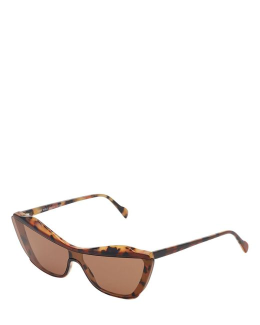 Andy Wolf Women's Brown Gretl Cat-eye Acetate Sunglasses