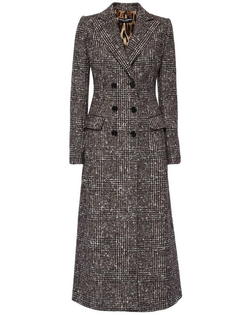 Dolce & Gabbana ウールブレンドコート Gray