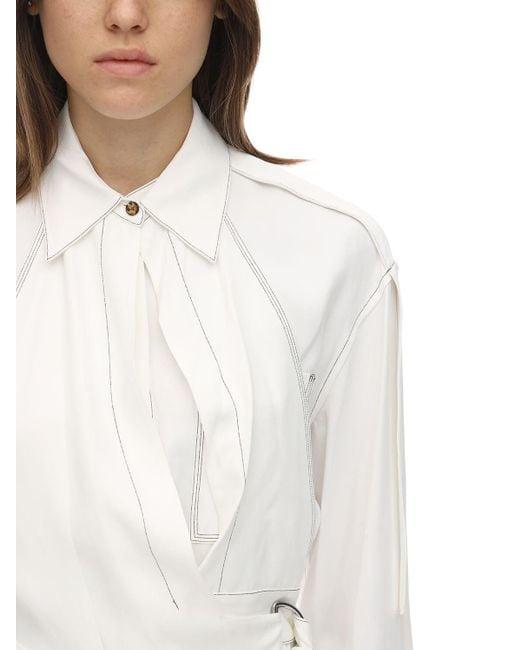 Proenza Schouler オーバーサイズビスコースブレンドギャバジンシャツ White