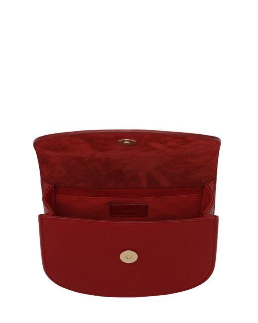 A.P.C. Mini Genève グレインレザーバッグ Red