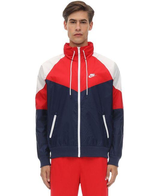 メンズ Nike ウーヴンテクノトラックジャケット Red