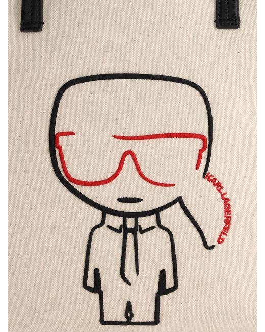 Karl Lagerfeld Ikonik コットンキャンバストートバッグ Multicolor