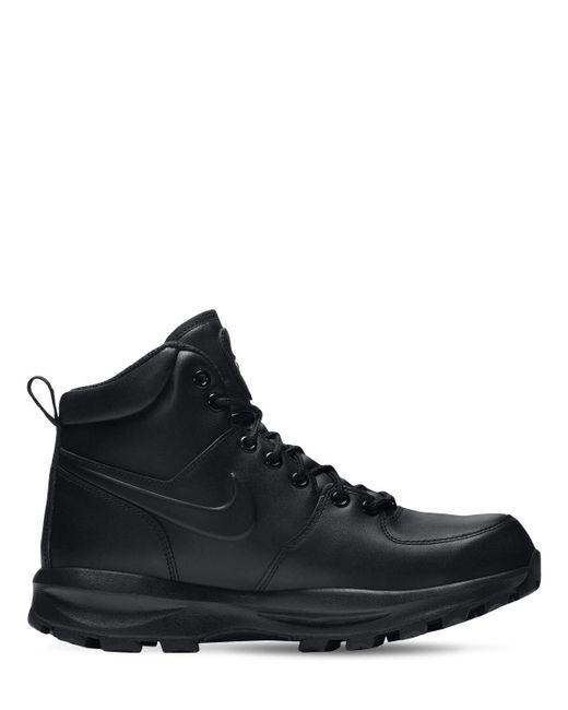 Кожаные Кроссовки Manoa Nike для него, цвет: Black