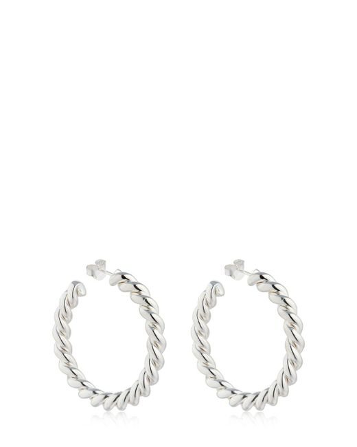 Isabel Lennse - Metallic Twisted Hoop Earrings - Lyst
