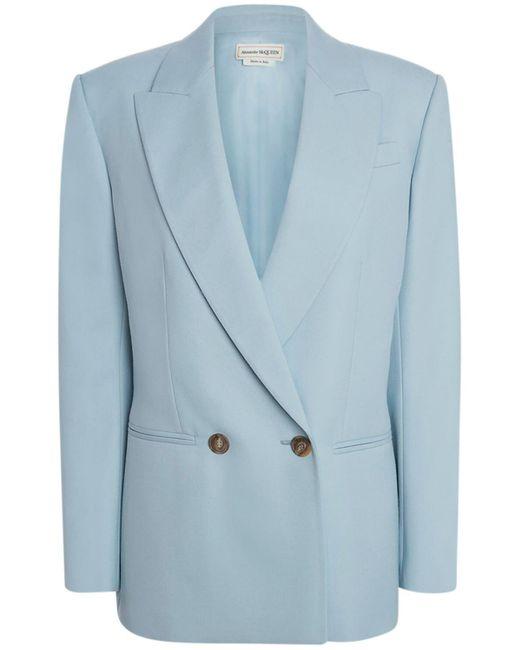 Alexander McQueen ウールジャケット Blue