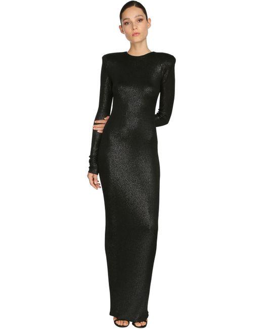 Длинное Платье Из Джерси Alexandre Vauthier, цвет: Black