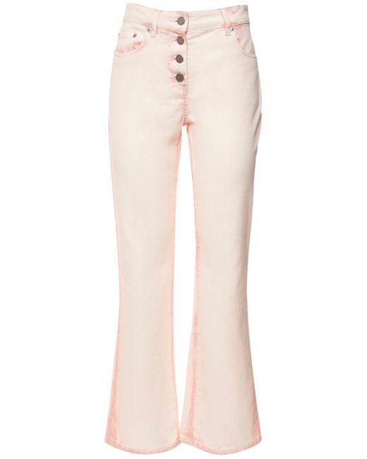 Джинсы Tie Dye Из Хлопкового Денима Alberta Ferretti, цвет: Pink