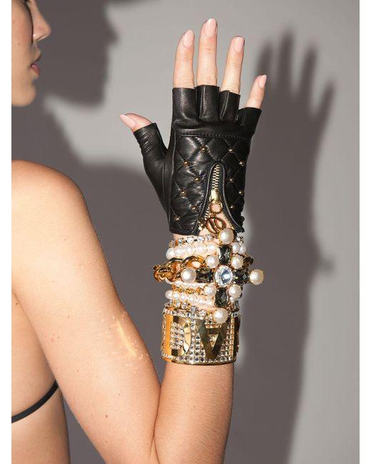 Кожаные Перчатки Lvr Exclusive DSquared², цвет: Black