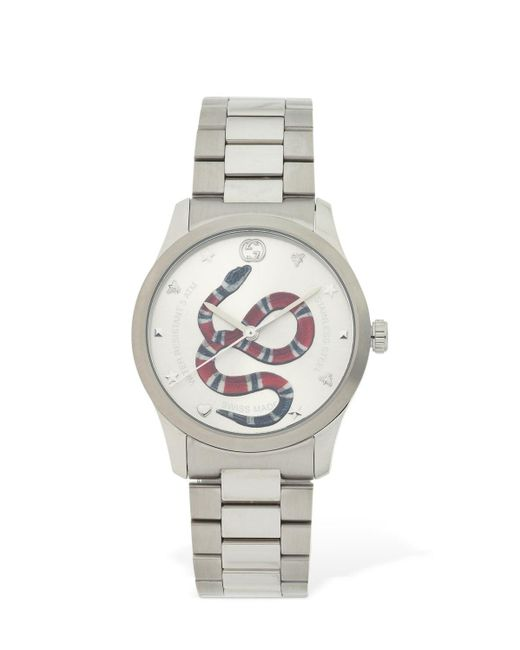メンズ Gucci G-timeless Red Snake 腕時計 Metallic