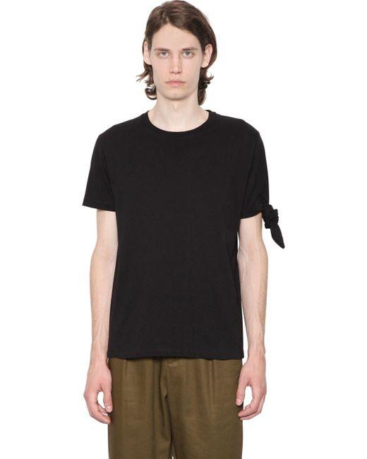 メンズ J.W. Anderson シングルノット コットンジャージーtシャツ Black