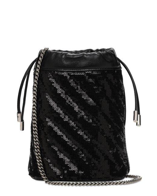 """Mini Sac Seau En Sequins """"gg Marmont 2.0"""" Gucci en coloris Black"""