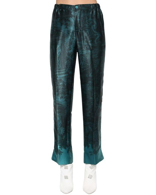 Pantaloni In Cupro E Viscosa di F.R.S For Restless Sleepers in Blue