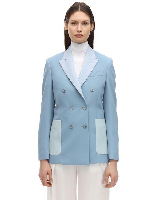 Stella McCartney ストレッチウールジャケット Blue