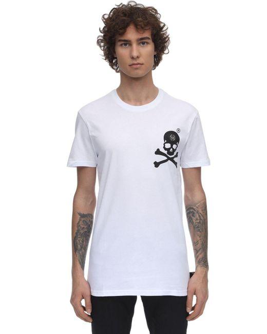 メンズ Philipp Plein コットンジャージーtシャツ White