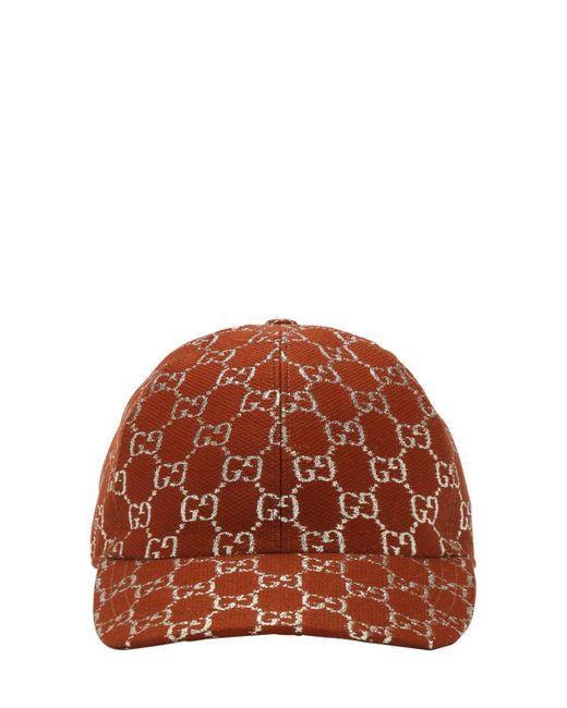 Кепка С Узором GG Supreme Gucci, цвет: Brown