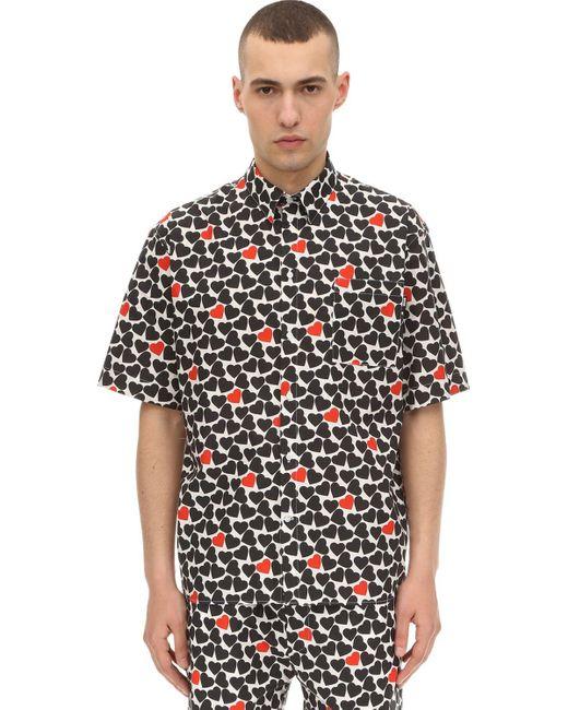 メンズ MSGM Lvr Exclusive ポプリンシャツ Black