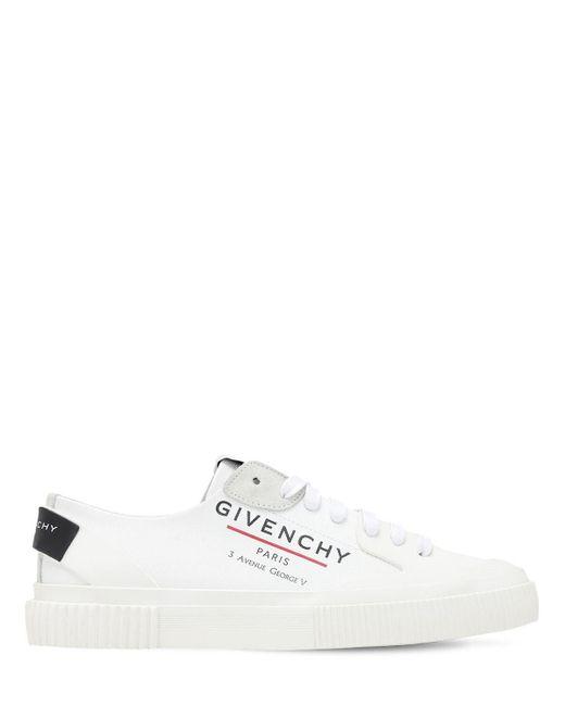 Givenchy Ennis Light コットンキャンバススニーカー 10mm White