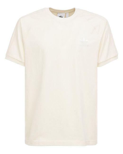 メンズ Adidas Originals 3-stripes コットンジャージーtシャツ White