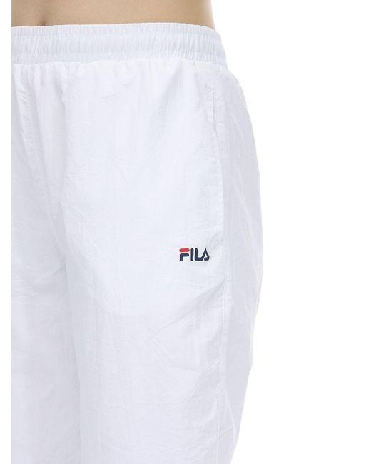 Fila ナイロントラックパンツ White