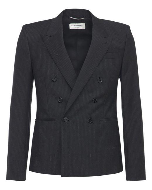 メンズ Saint Laurent モヘア&ウールジャケット Black