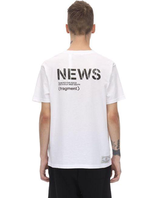 """T-Shirt En Jersey De Coton """"Fragment"""" Moncler Genius pour homme en coloris White"""
