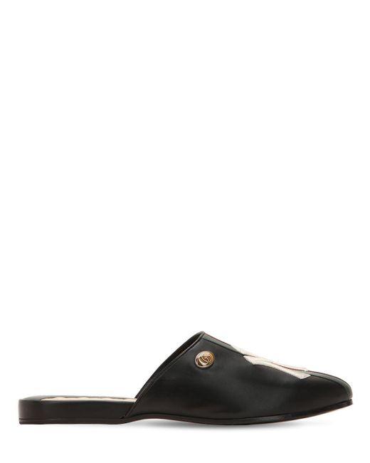 """Zapatos Mules Con Detalle """"ny"""" Gucci de hombre de color Black"""