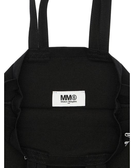 MM6 by Maison Martin Margiela コットンキャンバストートバッグ Black