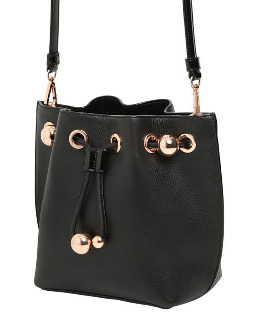 ... Sophia Webster - Black Romy Mini Leather Bucket Bag - Lyst ... b29372cc84d