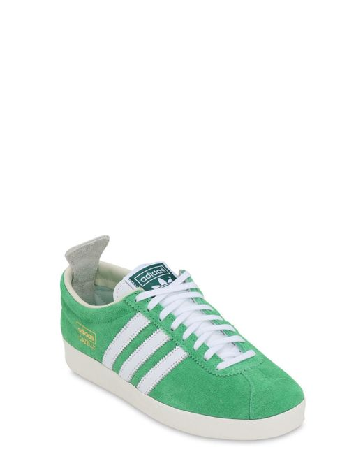 adidas Originals Lace Gazelle Vintage Trainers in Green/White ...