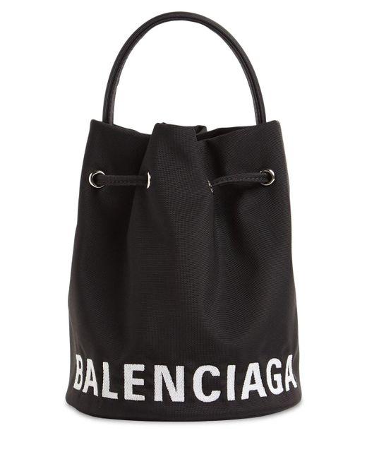 Balenciaga Wheel ナイロンバケットバッグ Black