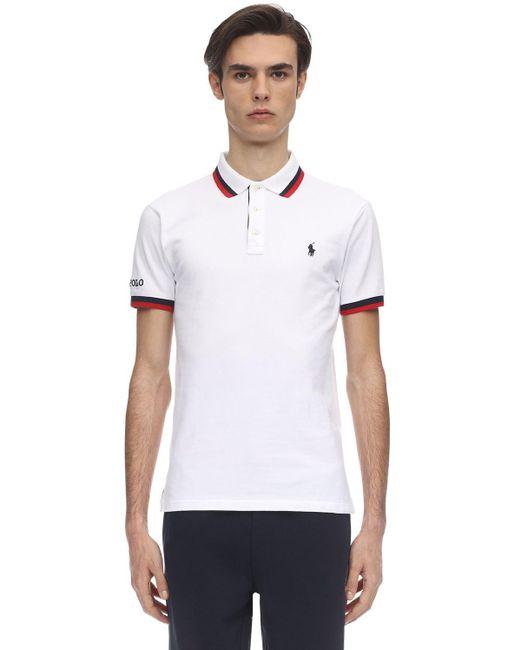 メンズ Polo Ralph Lauren コットンピケポロシャツ White
