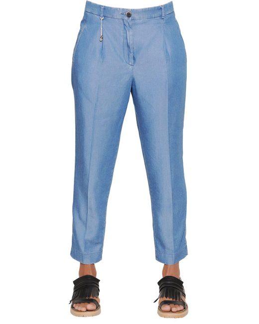 Incotex | Blue Luna Light Chambray Denim Pants | Lyst