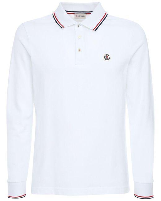 メンズ Moncler ピケポロシャツ White
