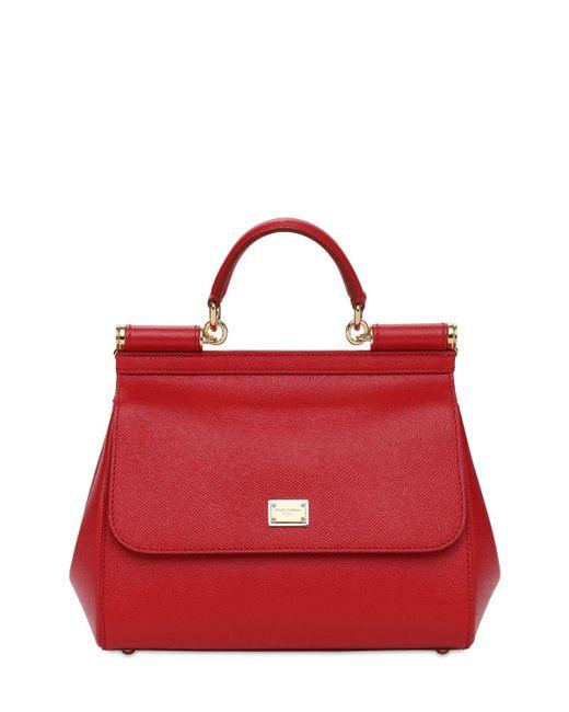 Dolce & Gabbana Sicily レザーバッグ Red