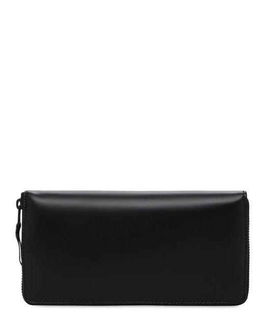 Кожаный Кошелёк На Молнии Comme des Garçons для него, цвет: Black