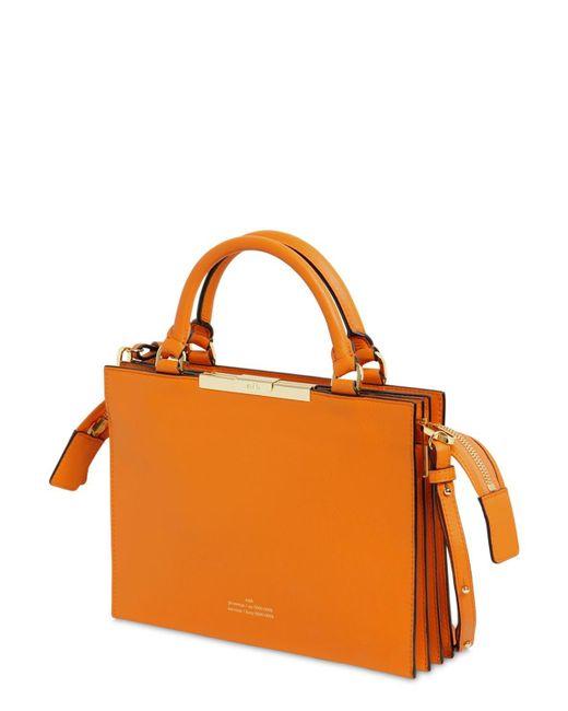 ROKH File A レザートップハンドルバッグ Orange