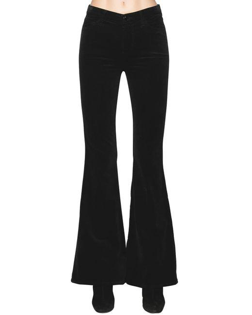 J Brand Valentina ベルベット ハイライズフレアパンツ Black