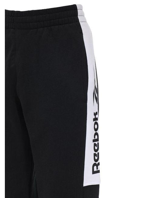 メンズ Reebok Cl F Vector コットンブレンドスウェットパンツ Black