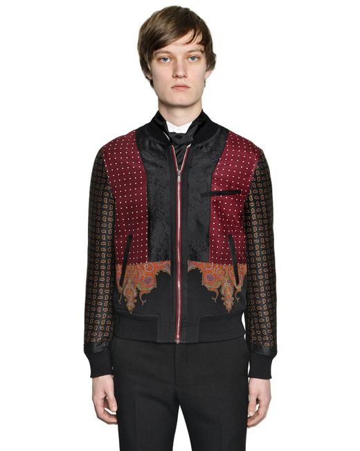Alexander McQueen - Multicolor Patchwork Wool & Silk Bomber Jacket for Men - Lyst