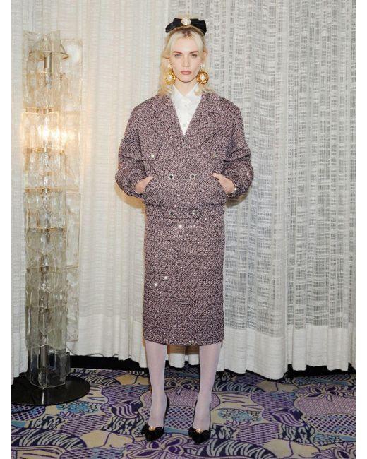 Alessandra Rich スパンコールツイードスカート Multicolor