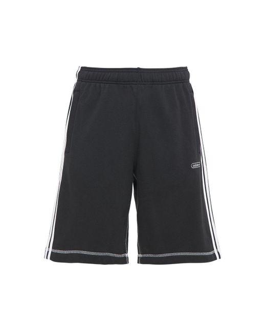 メンズ Adidas Originals コットンブレンドスウェットハーフパンツ Black