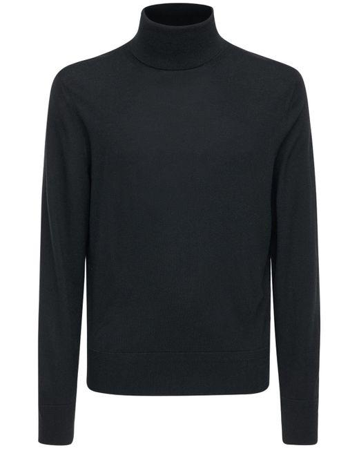 Suéter De Punto De Lana Con Cuello Alto Tom Ford de hombre de color Black